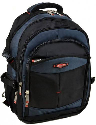 Стильный городской рюкзак из нейлона 42 л. Power In Eavas 9718 blue, синий