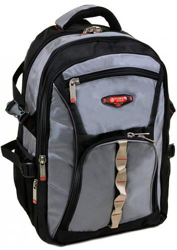 Молодежный городской рюкзак из нейлона 43 л. Power In Eavas 9716 grey, серый