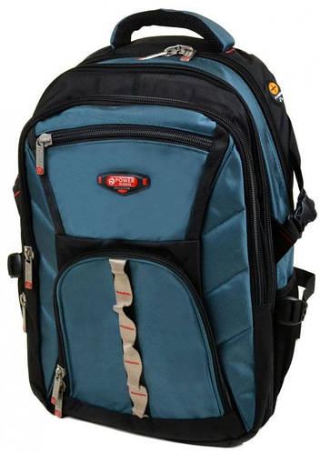 Аккуратный городской рюкзак из нейлона 43 л. Power In Eavas 9716 light-blue, синий