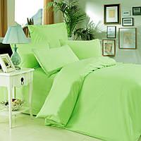 Евро комплект постельного белья light green