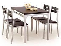 Стол обеденный деревянный MALCOLM венге Halmar + 4 стула Halmar