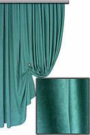 Ткань для декора и пошива портьер Пальмира темный бирюзовый