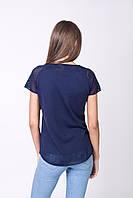Темно-синяя футболка отменного качества, фото 1