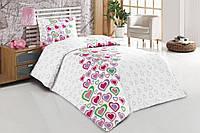 Набор постельного белья полуторный (подростковый) Tutku розовый
