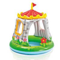 Надувной детский бассейн с крышей, Intex 57122 «Королевский замок», 122 см
