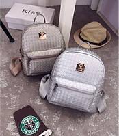 Плетенный мини рюкзак женский.