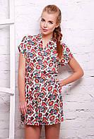 Платье -рубашка с кнопками белая  FOLK, фото 1