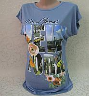 Футболка женская. 42-48 р-р.Турция. Женские футболки, туники, блузки из трикотажа. , фото 1