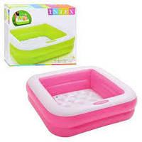Маленький надувной детский бассейн для дачи, Intex 57100, 85-85-23 см