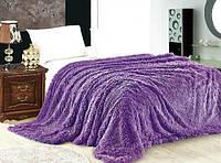 Меховое покрывало на кровать евро размер East Comfort