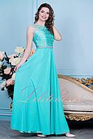 Вечернее платье бирюзовое Адели