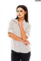 Женская рубашка в горох 42-48