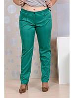 Женские зеленые брюки больших размеров (рр 42-74)