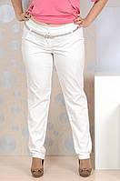 Женские белые брюки больших размеров (рр 42-74)