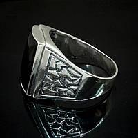 Серебряный мужской перстень с ониксом