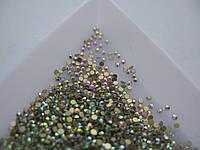 Стразы для ногтей ss3 crystal AB 1440шт. (1,3-1,4мм)