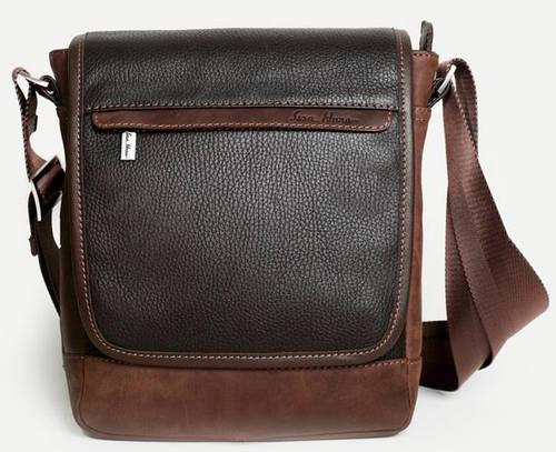 Практичная мужская сумка-планшет из натуральной кожи ISSA HARA B5-05 (12-32) brown
