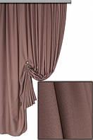Ткань для пошива штор Хортон коричневый