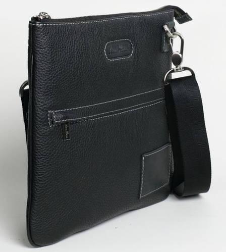 Компактная сумка месенджер, кожаная ISSA HARA В9 (11-31) black