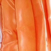 Шторы атлас цвет оранжевый
