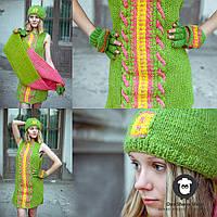 Вязаная шапка из натуральной шерсти