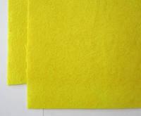 Фетр для рукоделия листовой, 1 лист 40*50 см, жёсткий, толщина 1 мм; желтый