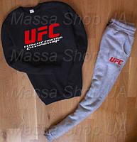 Зимние/летние мужские спортивные костюмы UFC юфс  р-р (с -хххл) Цвет: черный ,синий ,серый,бордовый,красный.