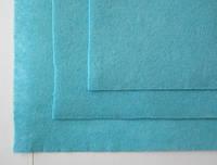 Фетр для рукоделия листовой, 1 лист 40*50 см, жёсткий, толщина 1 мм; голубой