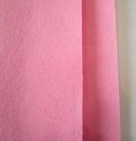 Фетр для рукоделия листовой, 1 лист 40*50 см, жёсткий, толщина 1 мм; розовый