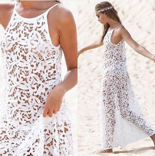 Кружевное пляжное платье своими руками