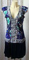 Платье модное яркое вискоза Сusto  р.44 6690