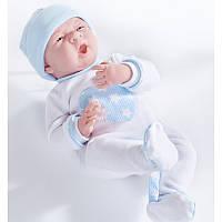 Кукла младенец мальчик в комбинезоне с серцем,  38см, Berenguer