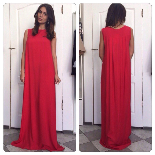 Свободное длинное платье