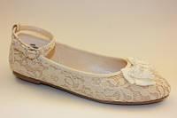 Очень красивые нарядные туфельки-балетки для девочек 36р. (Англия)