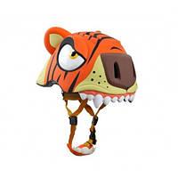 Шлем детский защитный для катания с фонариком Crazy Safety тигр