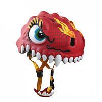Шлем детский защитный для катания с фонариком Crazy Safety китайский дракон
