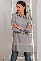 Рубашка-Туника женская орнамент серый