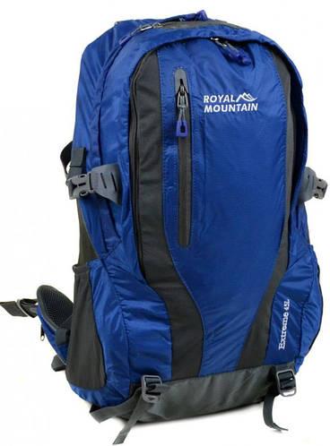 Строгий туристический рюкзак 45 л. Royal Mountain 8331 blue синий