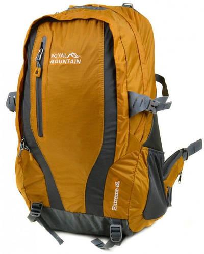 Интересный туристический рюкзак 45 л. Royal Mountain 8331 yellow желтый