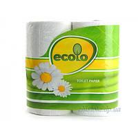 Туалетная бумага Ecolo двухслойная, 4 рулона