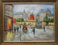 Картина маслом «Ретро пейзаж. Париж» купить картину пейзаж недорого, фото 1
