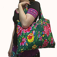 Женская тканевая сумка на плечо
