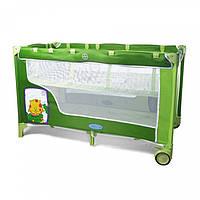 Детская манеж-кровать BT-016-SLC Green