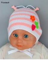 Детская шапочка для девочки Клубничка р36-38