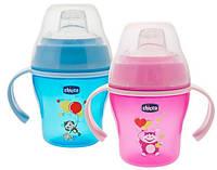 Чашка-непроливайка с мягким носиком Soft Cup розовый/голубой, 6м+