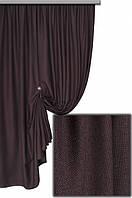 Ткань плотная для пошива портьер Лен Олимпия венге