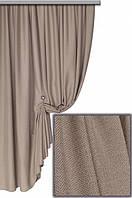 Ткань плотная для пошива портьер Лен Олимпия натуральный бежевый