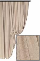 Ткань плотная для пошива портьер Лен Олимпия светло-бежевый