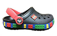 Сандалии детские Crocs (кроксы, шлепки) резиновые черные