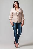 Пиджак женский больших размеров Бостон беж (50-60)
